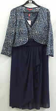 Miss Anne Formal Dress Knee Length With Lace jacket 4079  Size 8 - 22
