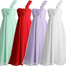 New KNEE Homecoming Ball Gown Flower Bridesmaid Wedding Party Pageant Prom Dress