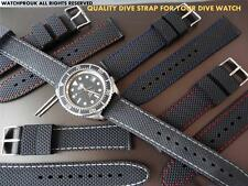 QUALITY REPLACEMENT RUBBER DIVE STRAP BAND FOR  WENGER DIVE / MILITARY  WATCH