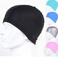 Flexible Adult Stretch Swimming Long Hair Waterproof Hat Swim Ear Cap