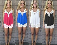 WOMENS LADIES SEXY CHIFFON STRAPY CAMI HOLIDAY PARTY SUMMER TOP SIZE 14-18