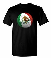 Mexico Soccer Ball T Shirt 100% Cotton Tee by BMF Apparel