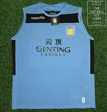 Aston Villa Training Shirt - Official Macron Sleeveless Top with Squad Number
