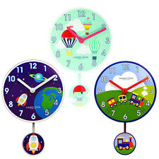 London Clock Modern Pendulum Children Nursery Kids Home Wall Clock Decor