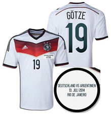 ADIDAS GERMANY MARIO GOTZE FINAL DETAIL JERSEY FIFA WORLD CUP BRAZIL 2014