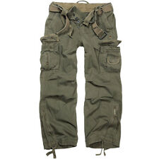 Brandit Royal Vintage Trousers Work Mens Bottoms Army Cargo Casual Pants Olive