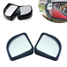 Car Vehicle Wide Angle Sector Convex Blind Spot Mirror Rear View Messag Silver