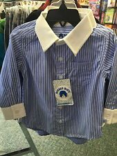 Boys Rugged Butts Blue Stripe Dress Shirt