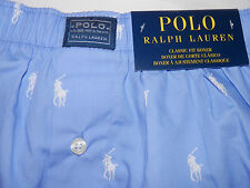 NWT-Mens Polo By Ralph Lauren Classic Fit Boxers-Light Blue-Size--XL--1021