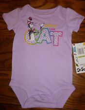 New Dr Suess Cat in the Hat Lilac Purple Baby Girl Romper Jumpsuit Clothing