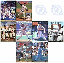 1991 Beckett Baseball Trading Card Monthly Price Guide Prints Photographs