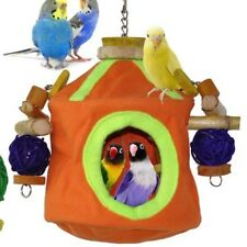 """Snooze & Play"" Bird Roosting Hut & Chew Toy Combo - Best Bird Product Winner!"