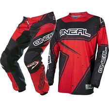 Oneal 2017 NEW Mx Youth Element Jersey Pants Black Red Kids Motocross Gear Set