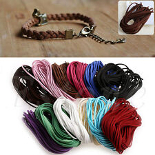 1Pack 1M Suede Flat Leather Rope Cord Wire Lace String Necklace Jewelry DIY New