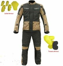 Bikers Gear UK Motorcycle Stay Dry Waterproof Armour Thermal Jacket Trousers Set