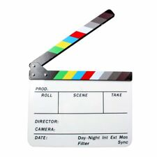 Colorful Clapper Board Slate Director TV Film Movie Acrylic Action Clapperboard