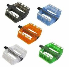 "SAVAGE VOODOO CLEAR PLATFORM BMX MTB BIKE 9/16"" PEDALS. 5 COLOURS AVAIL .SVPE010"