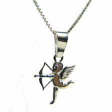 FASHIONS FOREVER 925 STERLING SILVER GOD OF LOVE CUPID NECKLACE-PENDANT