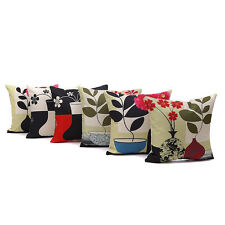 Vintage Flower Flower Pillow Case Cushion Cover Home Car Sofa Decor Square 18''