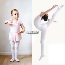 New Children Girls High Elastic Stockings Dance Footed Tights Pantyhose EA9