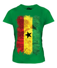 GHANA GRUNGE FLAG LADIES T-SHIRT TEE TOP GHANAIAN SHIRT FOOTBALL JERSEY GIFT