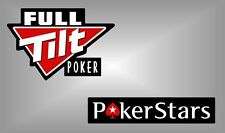 Full Tilt Poker or PokerStars vinyl decal sticker wsop wpt texas hold em casino
