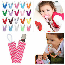 Baby Fashion Strap Chain Dummy Pacifier Soother Nipple Leash Clip Holders Multi