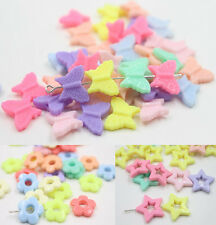 50PCS CANDY COLOR MIXED ACRYLIC PLASTIC SPACER BEADS FOR KIDS CRAFTS