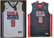 Nike Michael Jordan 1992 USA Basketball Dream Team Olympic Jersey 9 White - Blue