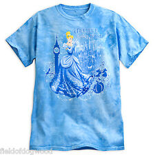 NWT Disney store Women Cinderella Tie-Dye T Shirt Top Small Princess