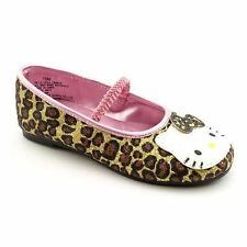Hello Kitty Lil Leila Flats Mary Jane Baby Toddler Girls Dress Shoes Leopard New
