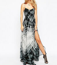 BNWT Religion Social  Printed Maxi Dress in Jet Black/White