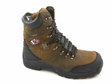 Mens V12 Toe Cap Waterproof Hiking Safety Work Boot, Brown, Rocky, V1255