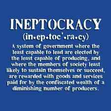 Ineptocracy Definition Funny Political Men's T Shirt Obama Novelty Graphic Tee