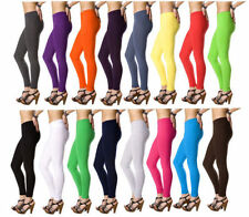 Womens Ladies Thick Stretchy Combed Cotton Leggings Full Length Skinny Plus Size
