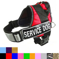 Reflective SERVICE Dog Harness Dog Vest with Removable 2 Velcro Patches