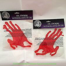 LIFE SIZE BLOODY HAND PRINTS-Gel Cling Sticker Halloween Horror Prop Decorations