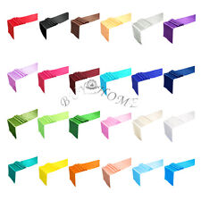 """12""""x108"""" Satin Table Runner Wedding Party Banquet Bridal Decoration 24 Colors"""
