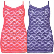 Ex M&S Marks and Spencer Women's Halanka Lace Strappy Vest - Sizes 6 - 20
