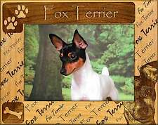 FOX TERRIER: ENGRAVED ALDERWOOD PICTURE FRAME #0078. Available in four sizes