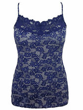 Ex M&S Marks and Spencer Women's Nightshade Lace Print and Trim Vest Top