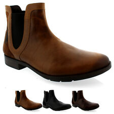 Mens Fly London Pyne Pull On Smart Leather Chelsea Ankle Boots Shoes UK 7-12