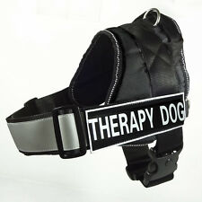 Reflective DOG Vest Service Dog Harness Velcro Patches THERAPY DOG for Large Dog