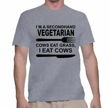 Men's T Shirt Secondhand Vegetarian Tee Funny Animal S New Humor Shirt Cool Gift