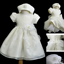 New Infant Girl & Toddler Easter Wedding Formal Party Dress Size: S,M,L XL Ivory