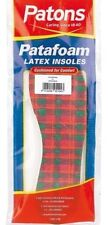 Womens Patons Patafoam Latex Cushioned Insoles for Shoes Tartan Size 3 4 5 6 7 8