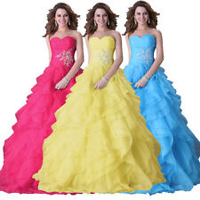 Sexy Quinceanera Long Cocktail Prom Formal Party Evening Gown Bridesmaids Dress