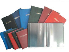 A5 LEATHER LOOK MENU COVER OR WINE LIST COVER PRINTED (PRICED PER ONE)