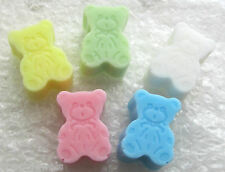 BABY SHOWER/PARTY FAVOURS TEDDY SOAPS CHOOSE A QUANTITY & COLOUR