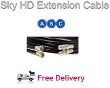 2m Freesat HD Extension Cable in Black, Sky HD Extension Cable Lead